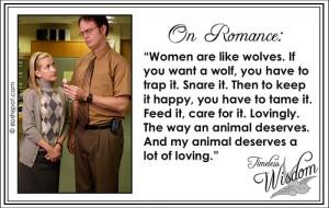 Dwight Schrute on Romance