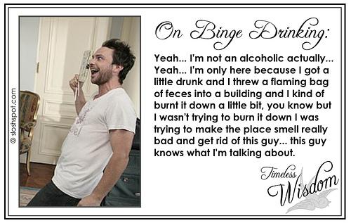 Charlie Kelley (Charlie Day) on Binge Drinking