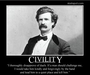 Mark Twain on Civility