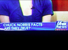 Chuck Norris Facts on Fox News
