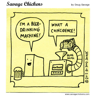 Beer Drinking Comic
