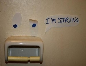 Im starving toilet note