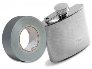 Duct-tape Flask to Body