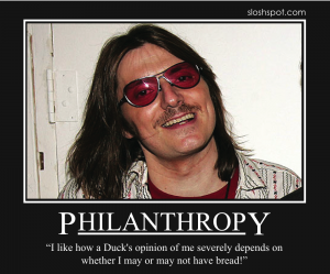 Mitch Hedberg on Philantrophy