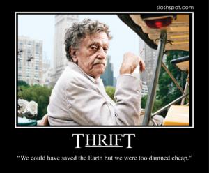 Kurt Vonnegut on Thrift
