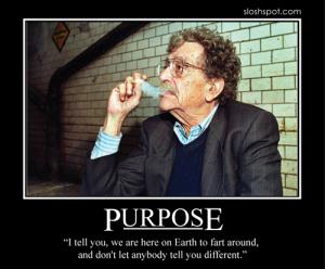 Kurt Vonnegut on Purpose