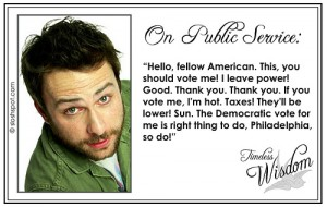 Charlie Kelley (Charlie Day) on Public Service