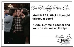 Norm Peterson on Finding True Love