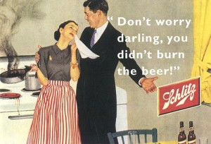 Schlitz Beer Ad - Didn't Burn The Beer