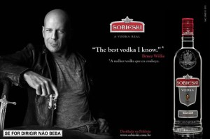 Best Celebrity Booze Advertisements - Bruce Willis