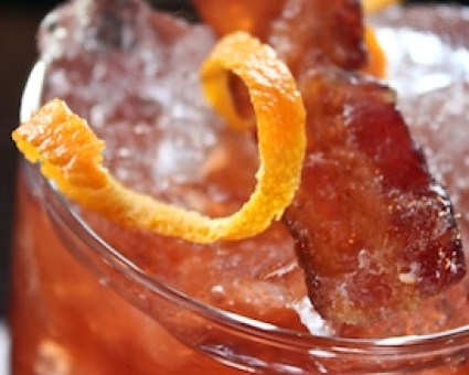 Bacon, Vodka, and Tomato Cocktail