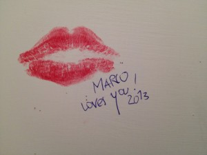 Bathroom Graffiti - Mario Loves You
