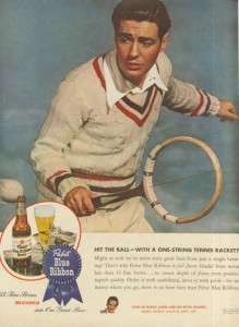 Pabst Blue Ribbon Beer Ads - Hit The Ball