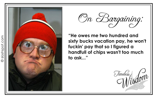 Trailer Park Boys' Bubbles on Bargaining
