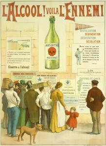 Absinthe Poster - L alcool Voila L Ennemi