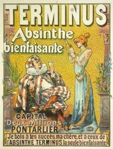 Absinthe Poster - Terminus Absinthe Bienfaisante