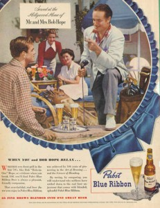 Pabst Blue Ribbon Beer Ads - Mr and Mrs Bob Hope