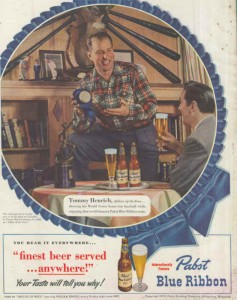 Pabst Blue Ribbon Beer Ads - Finest Beer Served Anywhere