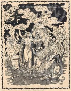 Absinthe Poster - Dance Macabre