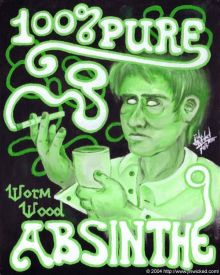 Absinthe Poster - 100 Percent Pure