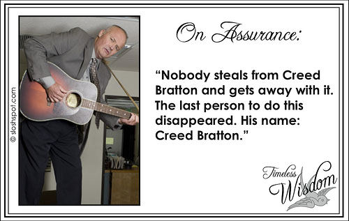 Creed Bratton on Assurance