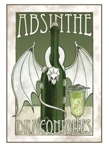 Absinthe Poster - Draconiques