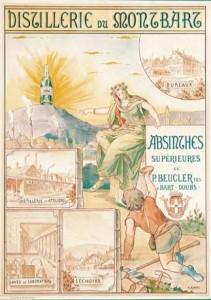 Absinthe Poster - Distillerie Du Monrtbart