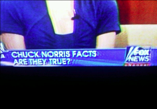 Chuck Norris Facts on Fox News