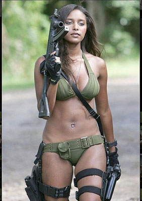 Women With Gun - Military