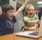 Children watching WWE