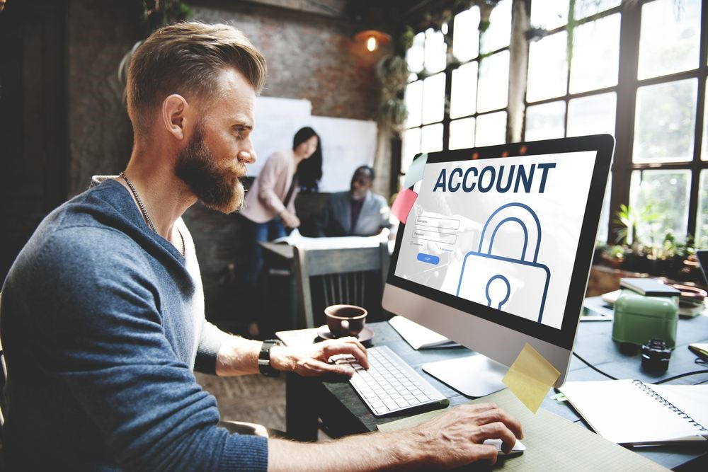 man putting online safety measures in place to protect his identity online